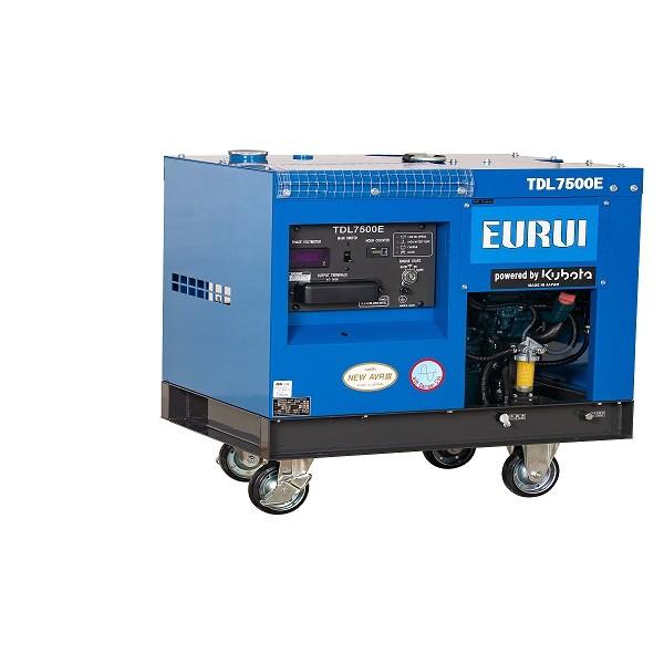 原装日本东洋柴油单相5KW移动式车载发电机TDL7500E