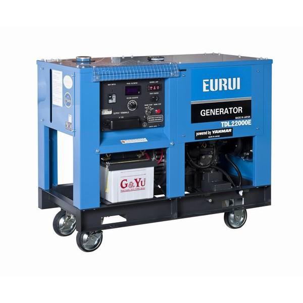 日本东洋柴油单相16KW车载式移动发电机TDL22000E