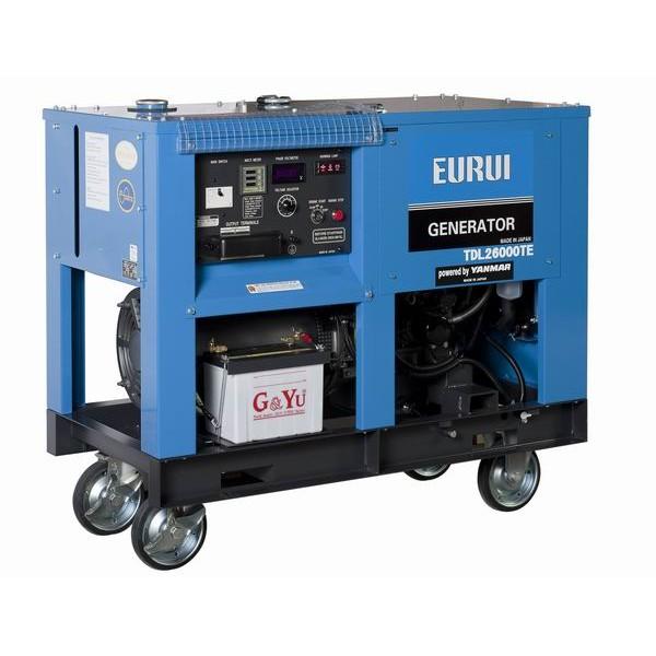 原装东洋柴油20KVA三相移动车载发电机TDL26000TE