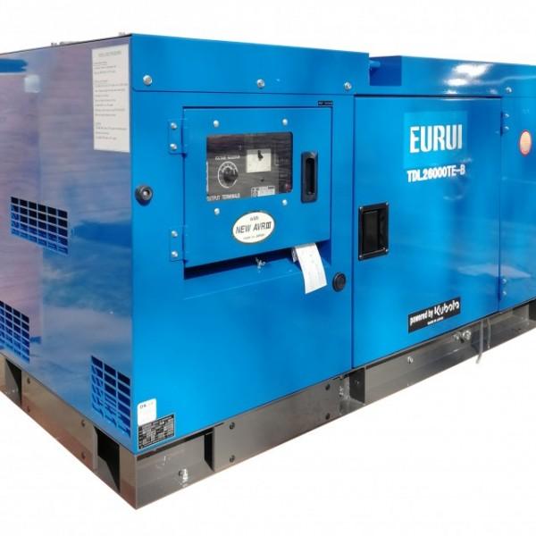东洋柴油20KVA三相静音车载发电机TDL26000TE-B