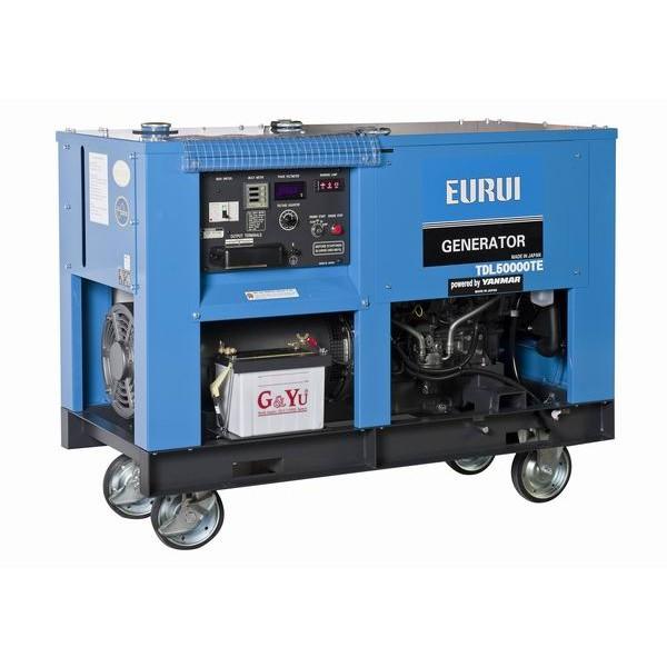 原装东洋柴油40KW三相轨道车专用发电机TDL50000TE