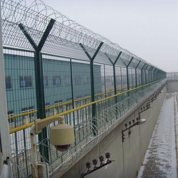 厂家定做监狱钢丝网墙 监狱护栏网 看守所防护栏