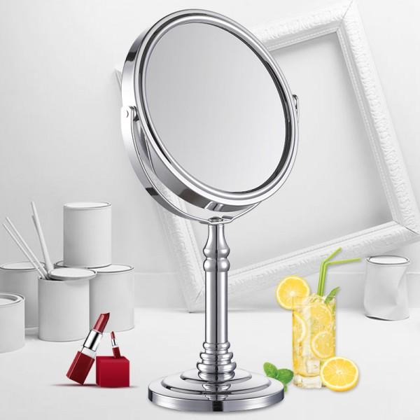 台式化妆镜欧式镜子双面旋转梳妆镜公主镜随身便携美容桌面小礼品