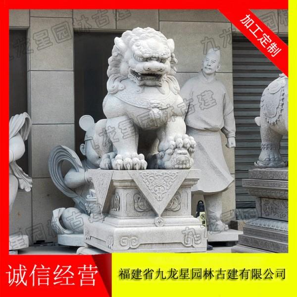 民间狮子石雕 石雕狮子设计雕刻厂