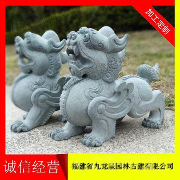 雕刻石雕貔貅 貔貅石雕专卖厂家