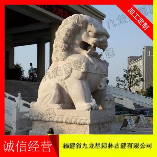 石材石狮子 狮子石雕厂家