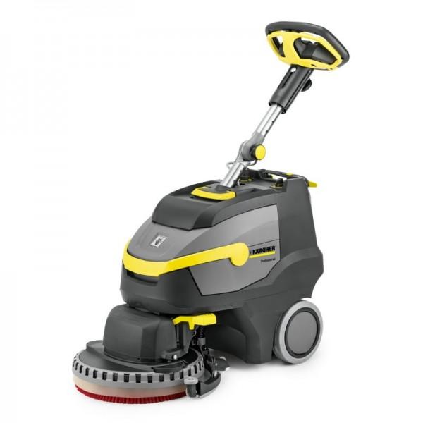 德国凯驰带盘刷头的BD 38/12 C 洗地吸干机,高效清洁