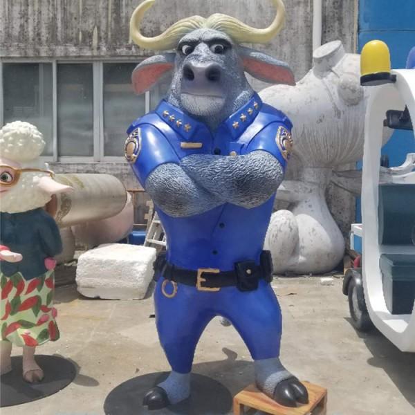 河源玻璃钢工艺厂疯狂动物城动漫卡通人物雕塑