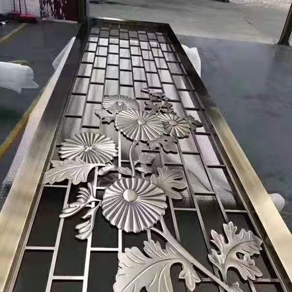 不锈钢和铝雕屏风
