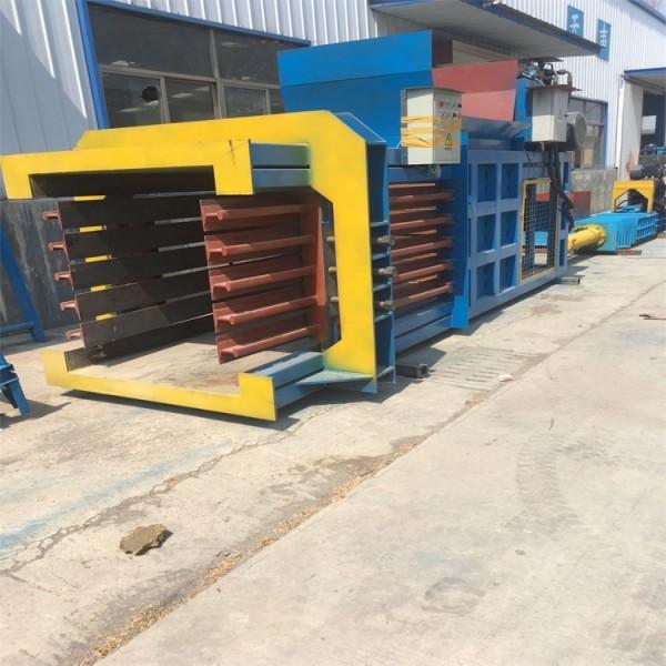 卧式80吨打包机 废纸箱塑料压块机