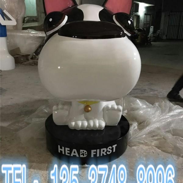 企业形象IP摆件雕塑玻璃钢卡通狗吉祥物定制