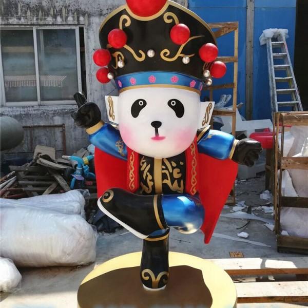 商场开业装饰摆件京剧花旦卡通公仔玻璃钢雕塑