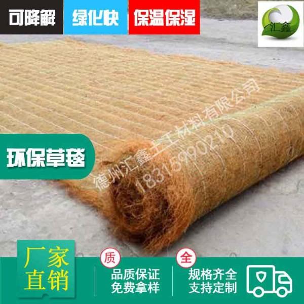 带草籽边坡植生毯 公路铁路护坡绿化草毯 植物纤维毯环保草毯