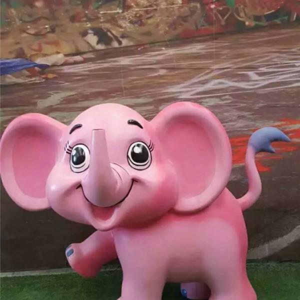幼儿园创意装饰美陈立体玻璃钢彩绘大象雕塑