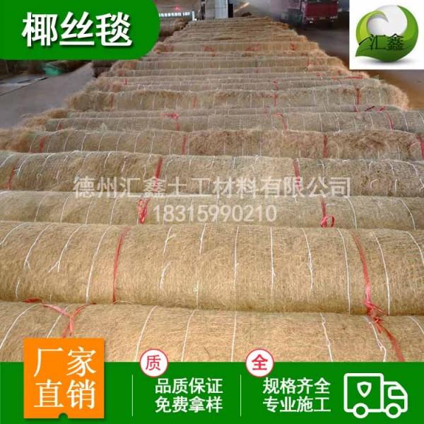 护坡植草植被垫 环保生态植草毯 pp网加筋椰丝毯