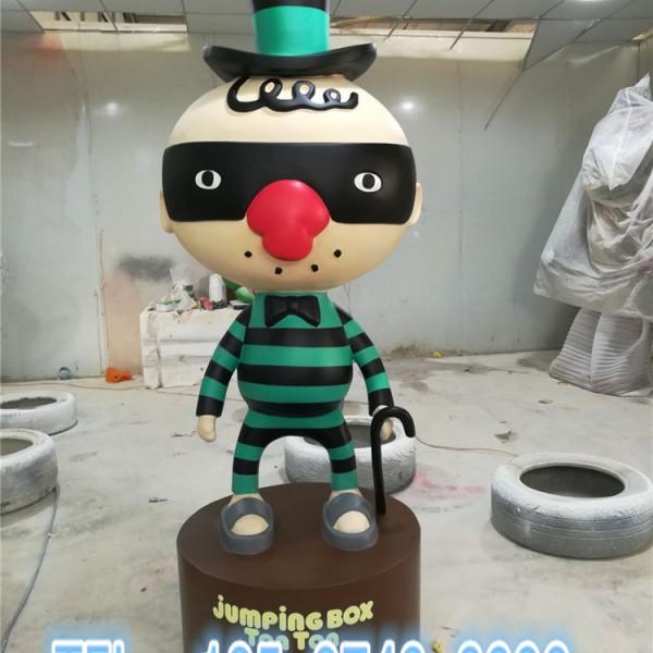 儿童服装店形象吉祥物定制动漫卡通公仔雕塑工厂