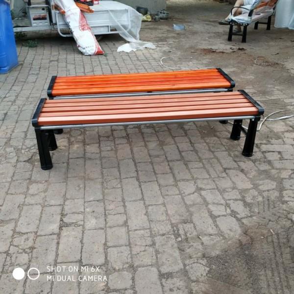 公园凉椅 户外休闲椅H形平凳