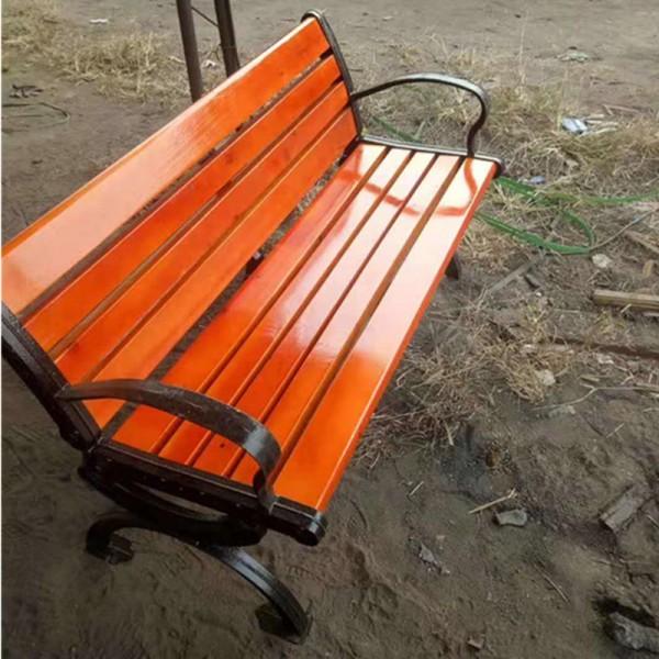 公园椅铸铝脚防腐木靠背椅 休闲凉椅