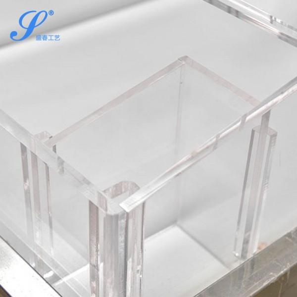 定制亚克力盒子-散装食品盒有机玻璃带盖厂家-盛春宁波