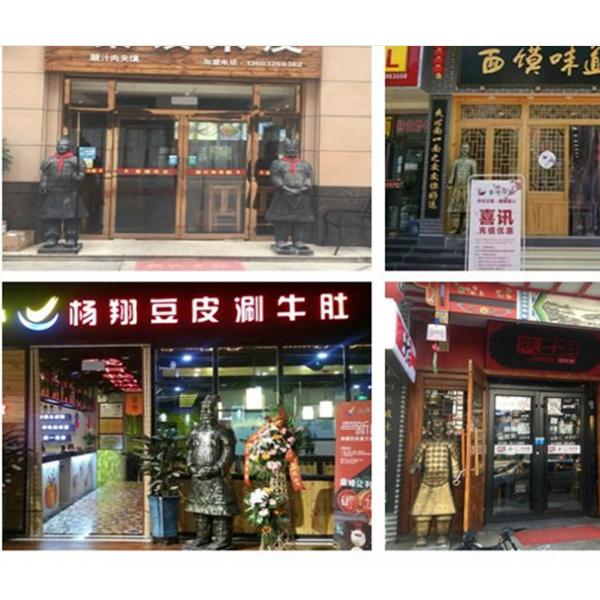 西安兵马俑纪念品 仿古兵马俑将军俑摆件 饭店装饰兵马俑