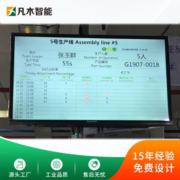 生产精益管理LCD液晶电子看板软件马达传动轴产制造执行系统