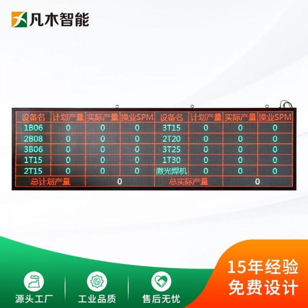 冲压机注塑机设备工厂车间生产管理LED电子看板显示屏系统