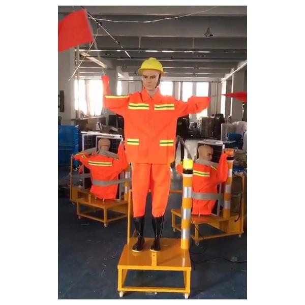衡阳市太阳能假人 高速施工机器人 保通安全员厂家