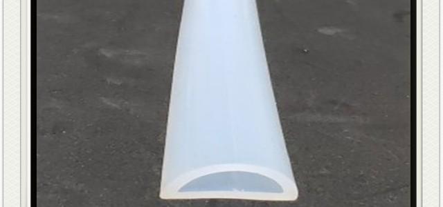 白色硅胶D型空心耐磨损密封条