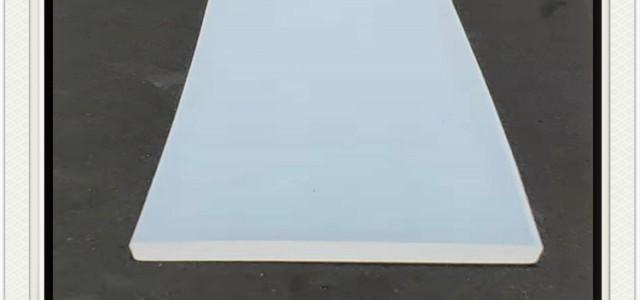白色硅胶平板耐磨损密封条