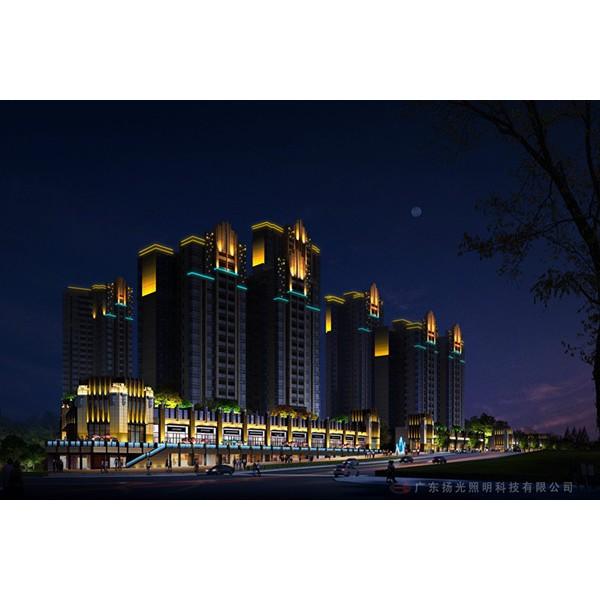 东莞小区夜景亮化照明设计