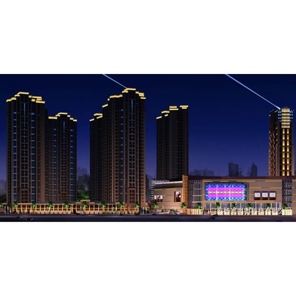 广西综合体楼体夜景照明工程