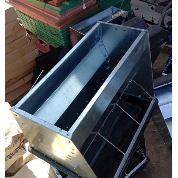 沐洋供应单面双面不锈钢食槽设备生产厂家