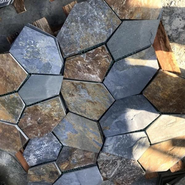 冰裂纹不规则碎拼文化石  庭院路面石