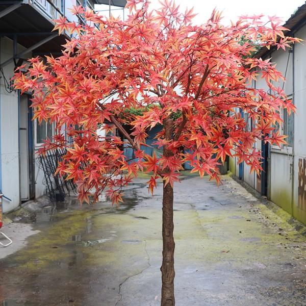 广州圣杰仿真枫树,玻璃钢大树,仿真树
