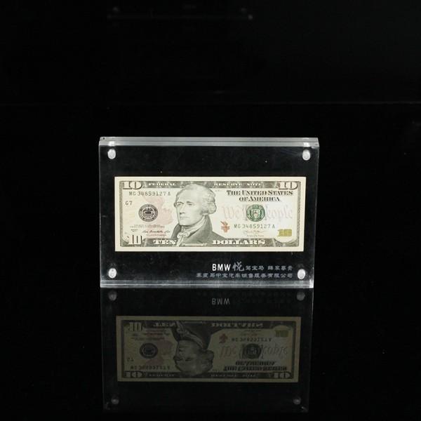 纪念币收藏展示架 磁吸相框 亚克力厂家