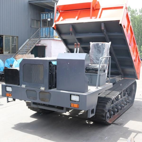 厂家6吨座驾式履带运输车 全地形矿用拉矿运输车自卸车