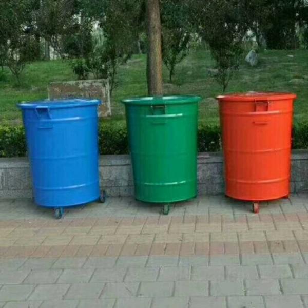 300升铁质垃圾桶 户外环卫果皮箱 厂家批发定制