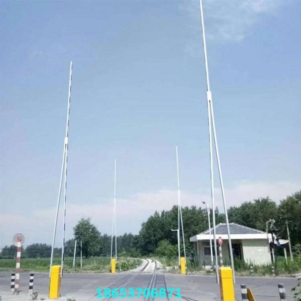 铁路道口电动挡车杆 铁路道口专用栏木机 双臂铁路道口栏杆