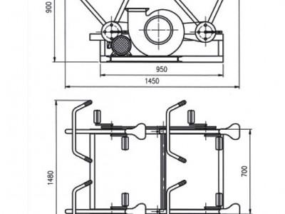 DJF-1型脚踏电动两用风机安装方式