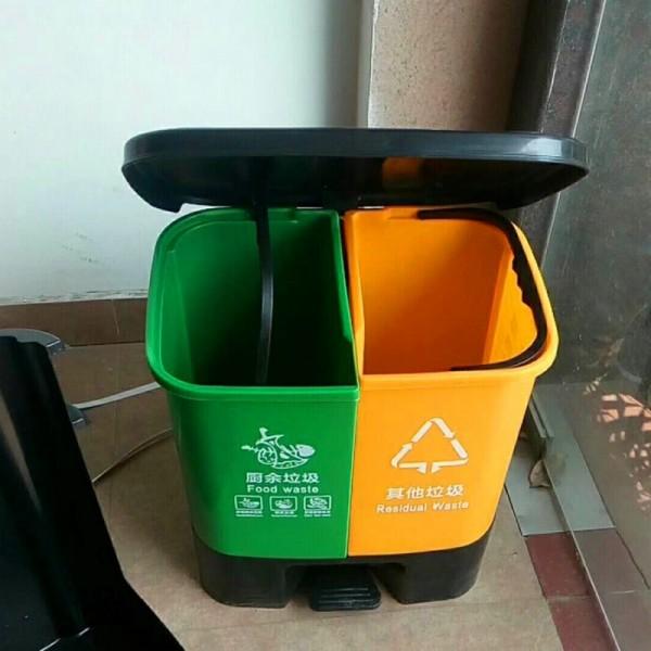 厨余塑料垃圾桶 分类脚踏垃圾桶 批发定制