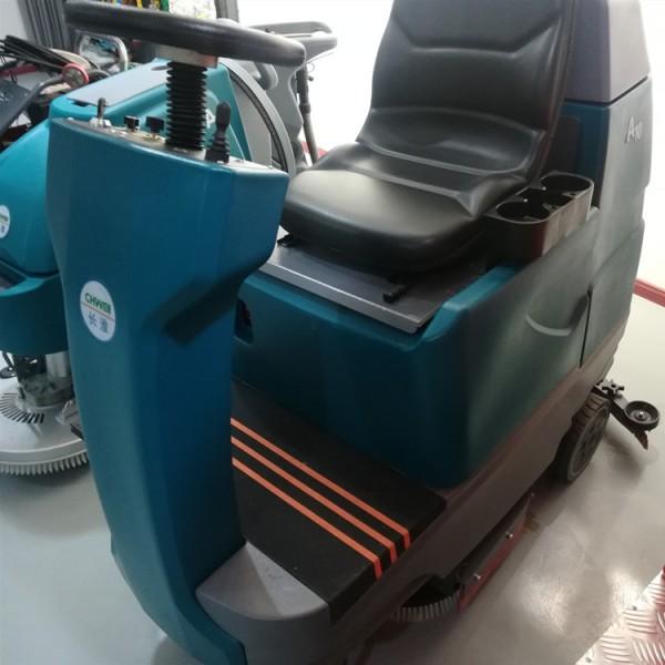 工厂专业驾驶式洗地机 电动双刷洗地车 厂家直销