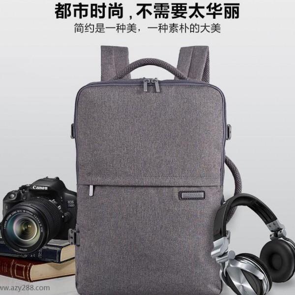 商务双肩包定做,电脑双肩包的生产厂家,贴牌LOGO定制