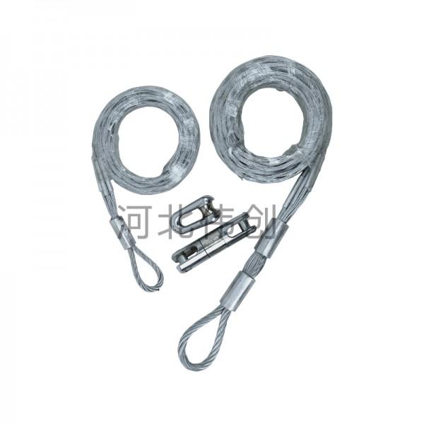 电缆网套导线牵引绳中间拉线钢丝网套旋转连接器抗弯蛇皮套电力