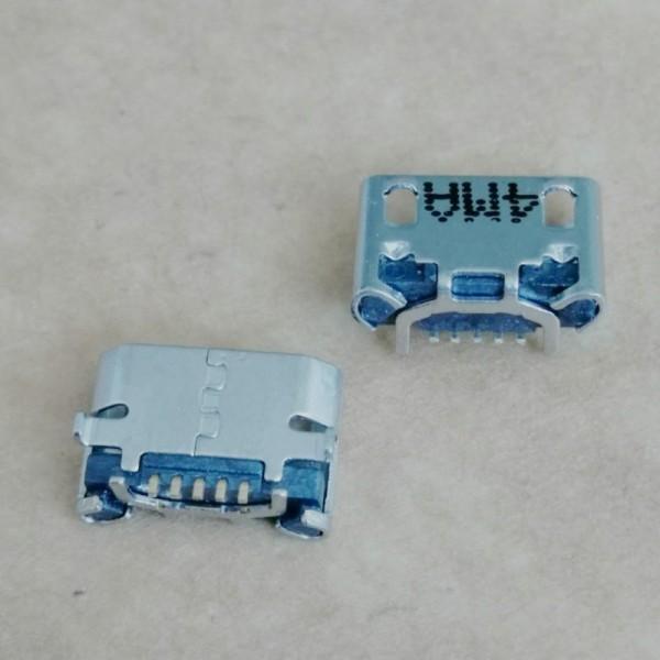 MICRO 5P牛角型母座 板上四脚插板 前插后贴 镀镍