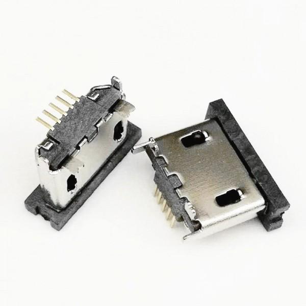 立贴 MICRO 5PIN-B型立式贴片 直边卷边 雾锡镀镍