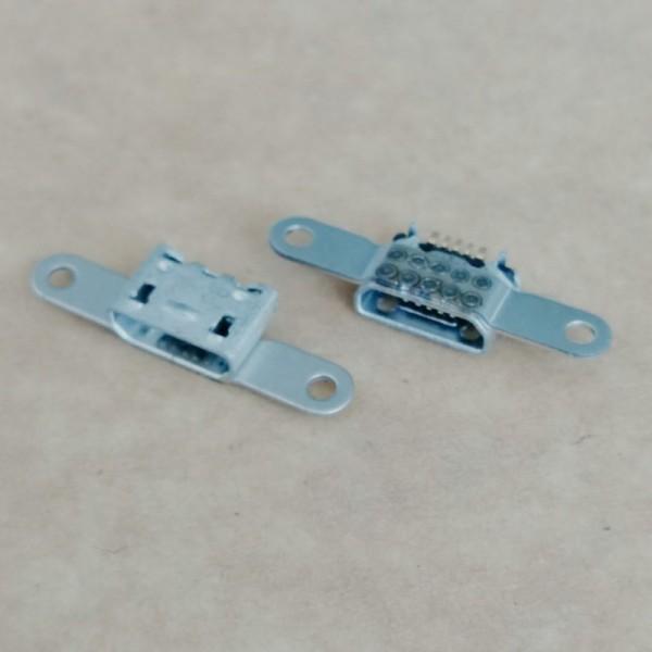 MICRO 5P母座 板上型带双耳螺丝定位孔牛角型大电流