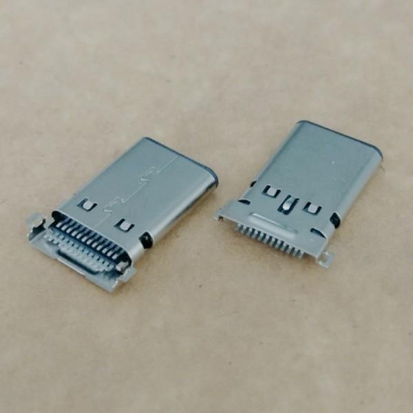 TYPE-C 沉板贴片公头 24P双排SMT 沉板0.95