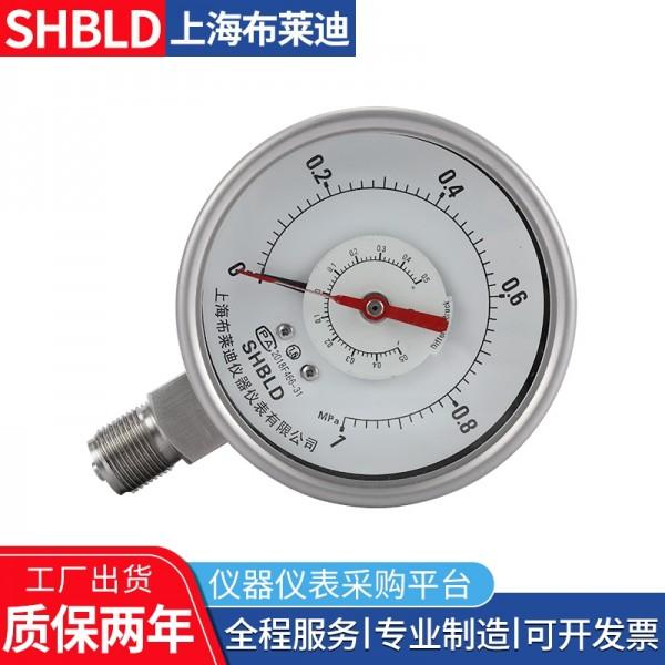 上海布莱迪CYW-103B不锈钢差压表气压表