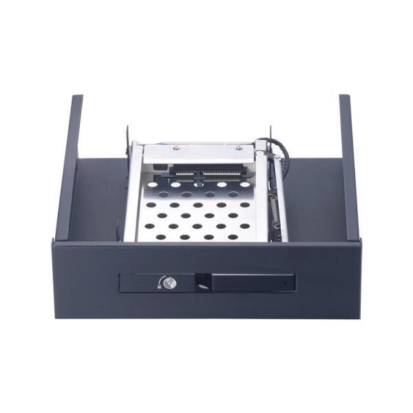 铝合金2.5寸光驱位SATA硬盘抽取盒 免工具硬盘架