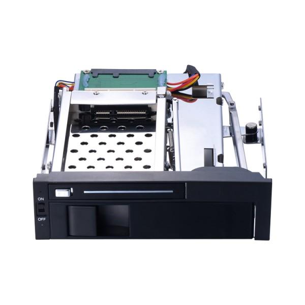 2.5+3.5寸双盘位SATA免工具内置硬盘抽取盒